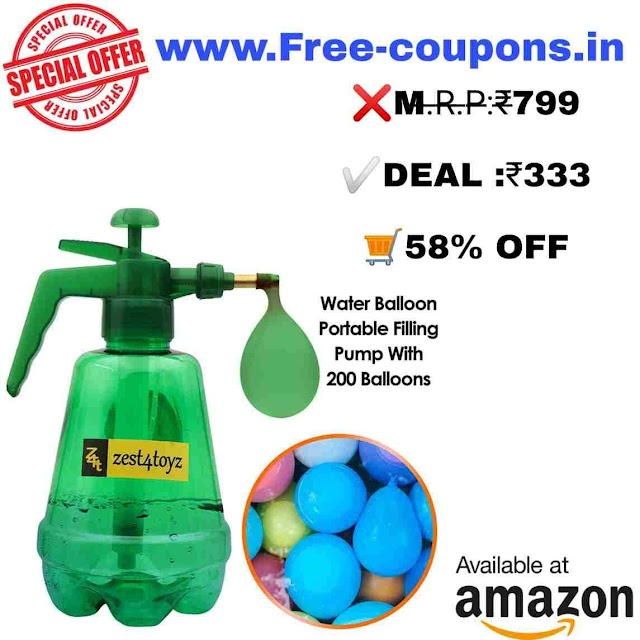 Holi special discount on pichkari, water gun, Water Balloon Pump