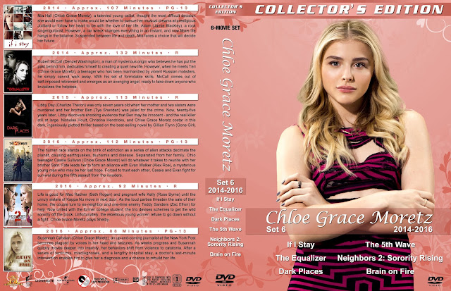 Chloe Grace Moretz Collection Set 6 Large Spine DVD Cover