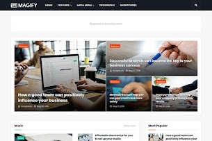 Magify - Responsive News & Magazine Blogger Template