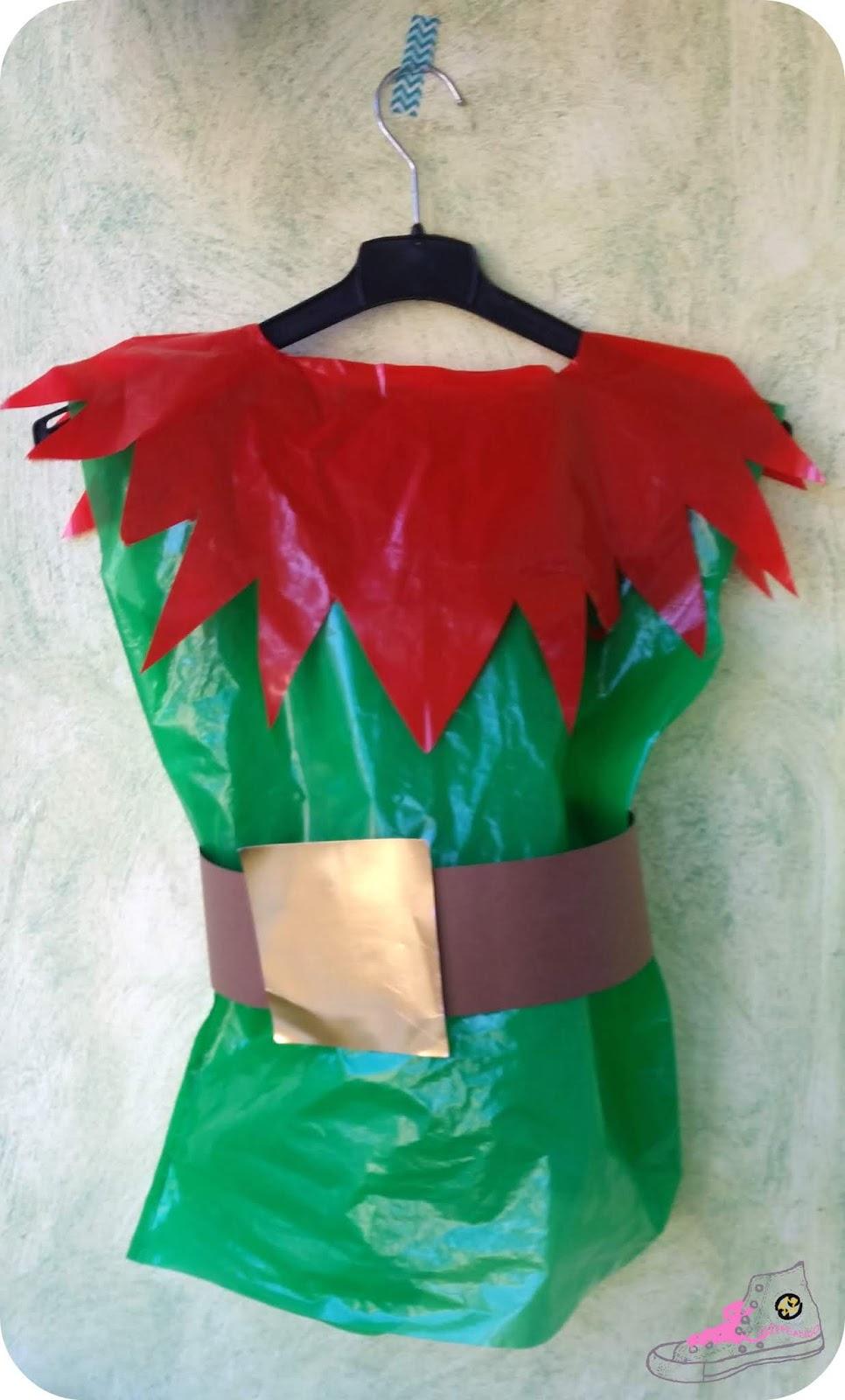 Disfraz diy con bolsas de basura de enanito del bosque - Traje de duende para nino ...