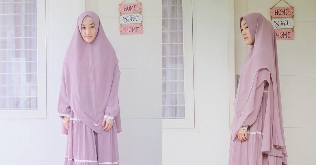 Trend Model Baju Gamis dan Hijab yang Cocok Untuk Lebaran Terbaru 2019 ...