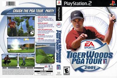 Jogo Tiger Woods PGA Tour 2001 PS2 DVD Capa