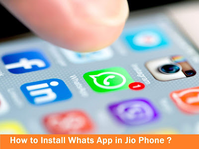 install whats app in jio phone