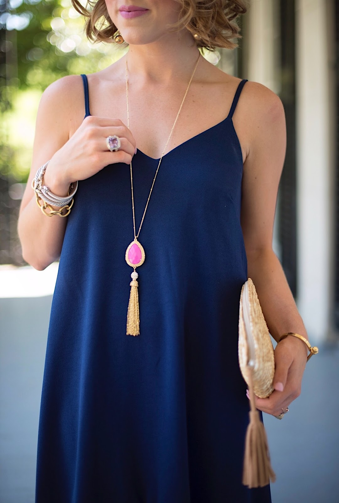 Lilly Pulitzer Sea Urchin Tassel Necklace - Click through to see more on Something Delightful Blog