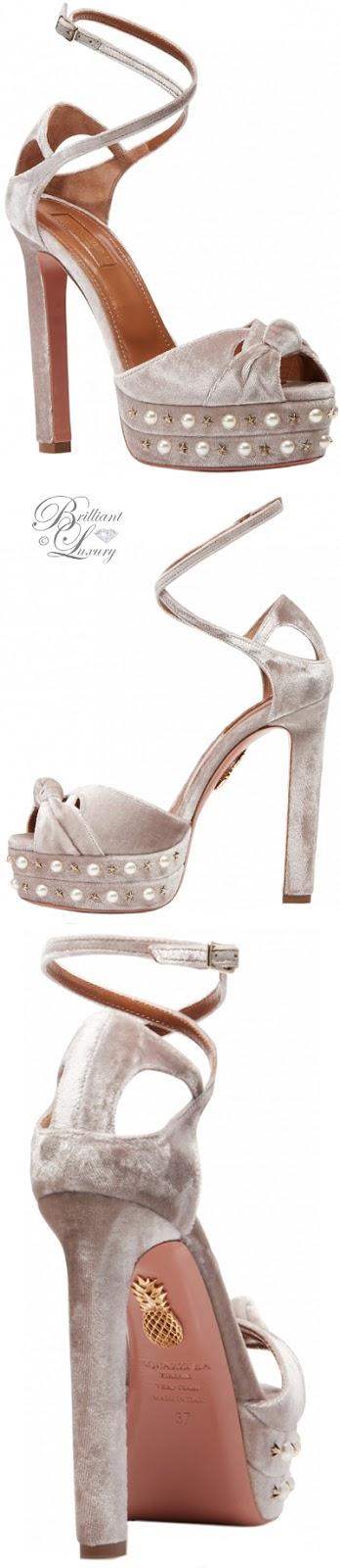 Brilliant Luxury ♦ Aquazzura Harlow Platform Sandals