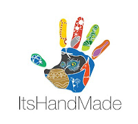 ItsHandMade-Logo Partecipazione mod. Cuori intagliatiColore Blu Tema cuori