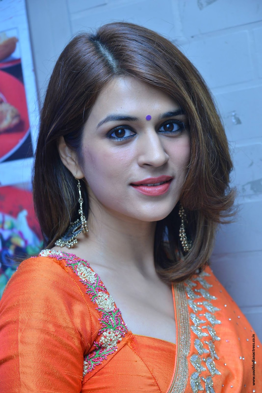 shraddha das stills at psv garuda vega success meet