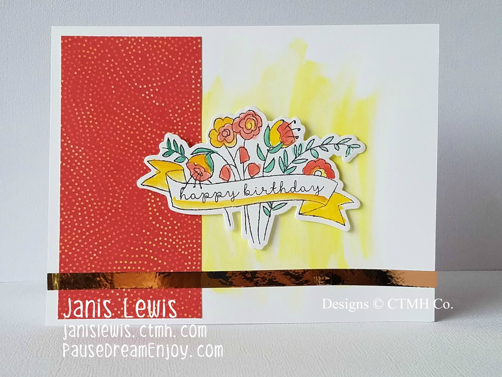 Pause Dream Enjoy CTMH Watercolored Happy Birthday Cards