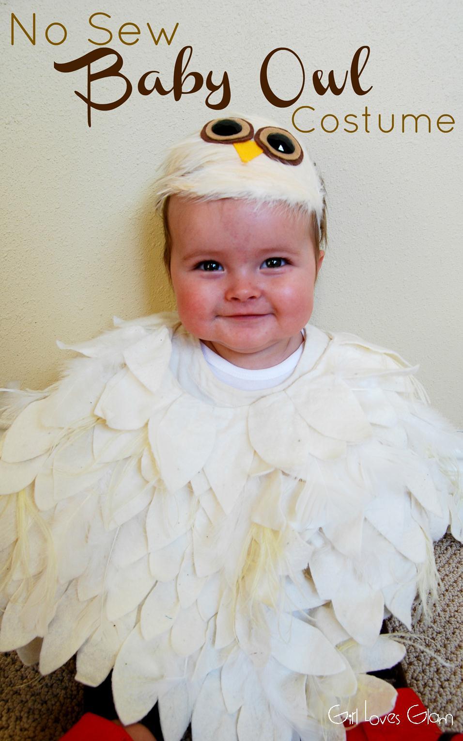 No Sew Baby Owl Costume  sc 1 st  Girl Loves Glam & No Sew Baby Owl Costume - Girl Loves Glam