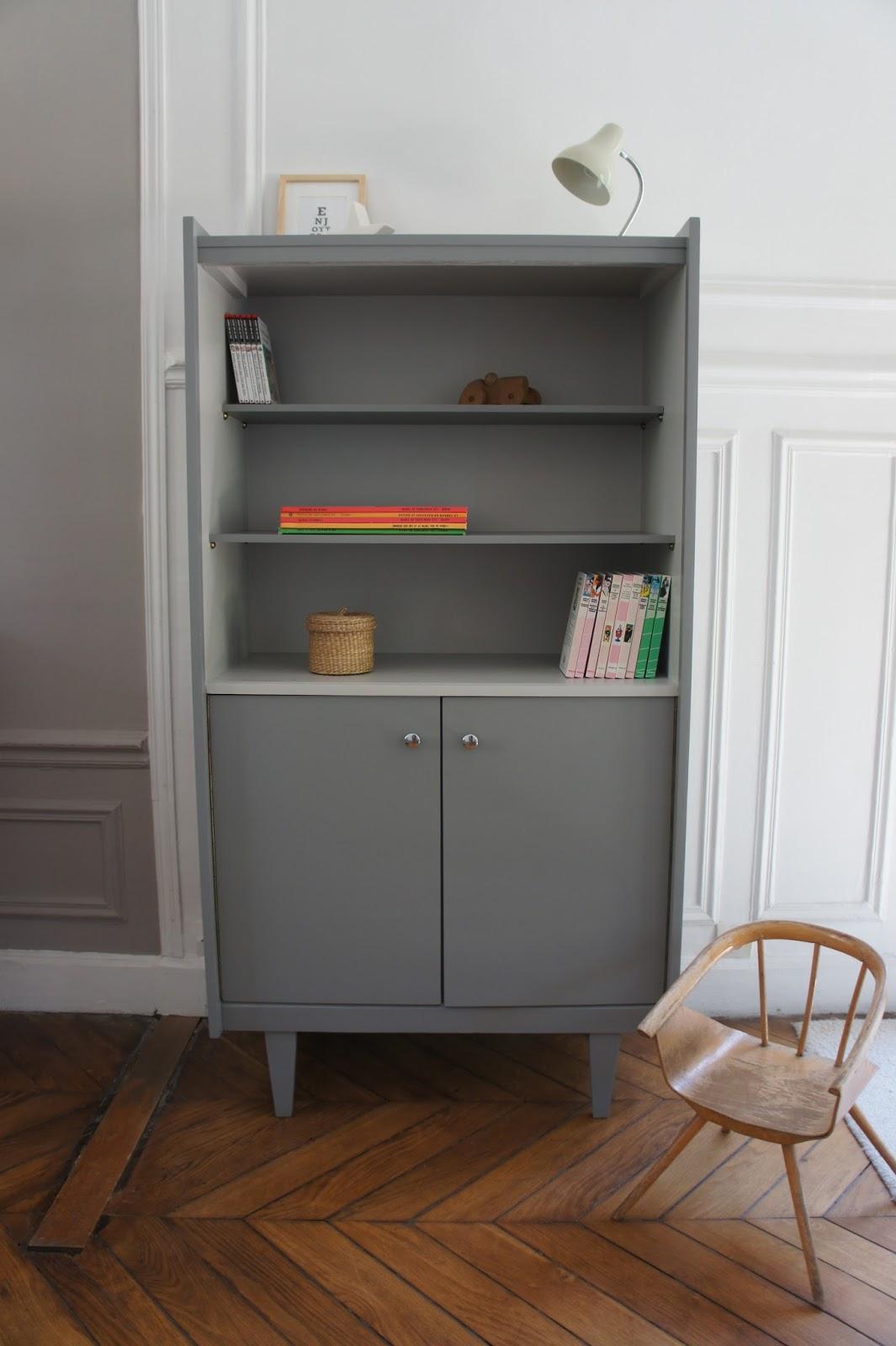 atelier petit toit la biblioth que vintage de nomino. Black Bedroom Furniture Sets. Home Design Ideas