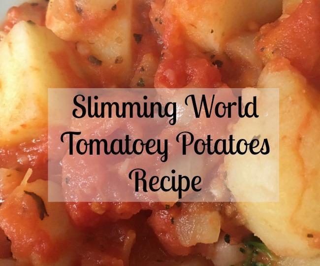 Slimming-World-Tomatoey-Potatoes-Recipe-text-over-image-of-tomato-potatoes