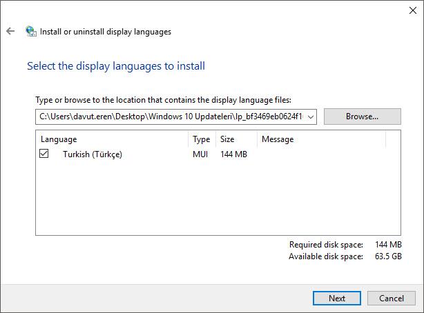 türkçe dil paketi kurulum 3