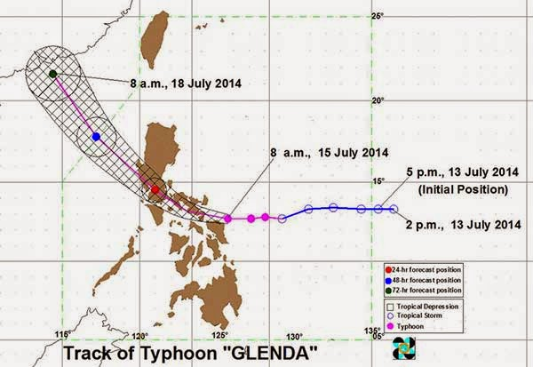 Typhoon Glenda July 15, 2014