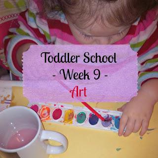 Toddler School - Week 9 - Art