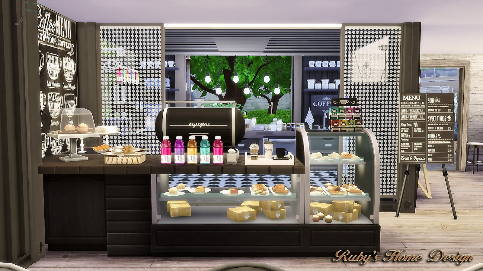 How To Get Blueprints Of My House Online My Sims 4 Blog Container Coffee Shop By Ruby Red