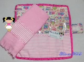 kit higiene bucal tecido
