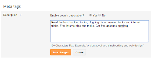 Simple SEO tricks For Blogger