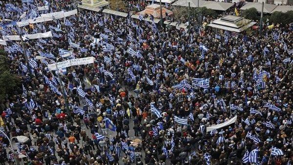 Protestan en Grecia en rechazo al cambio de nombre de Macedonia