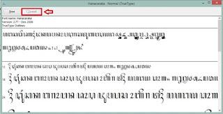Cara menulis aksara Jawa di microsoft word