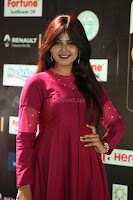 Monal Gajjar in Maroon Gown Stunning Cute Beauty at IIFA Utsavam Awards 2017 041.JPG