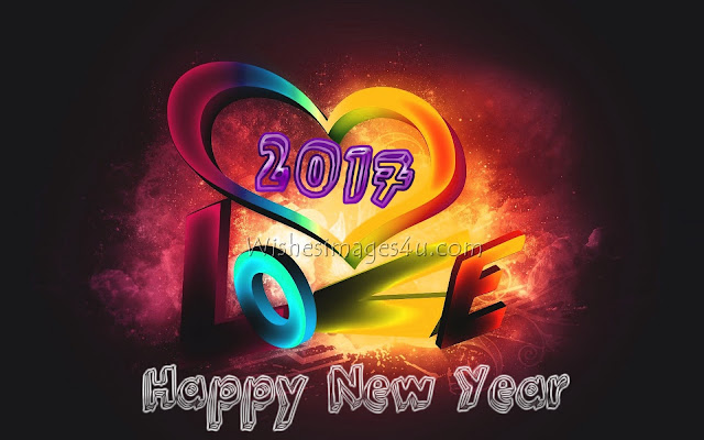 Happy New Year 2017 Love HD Photo Greetings Wishes Download