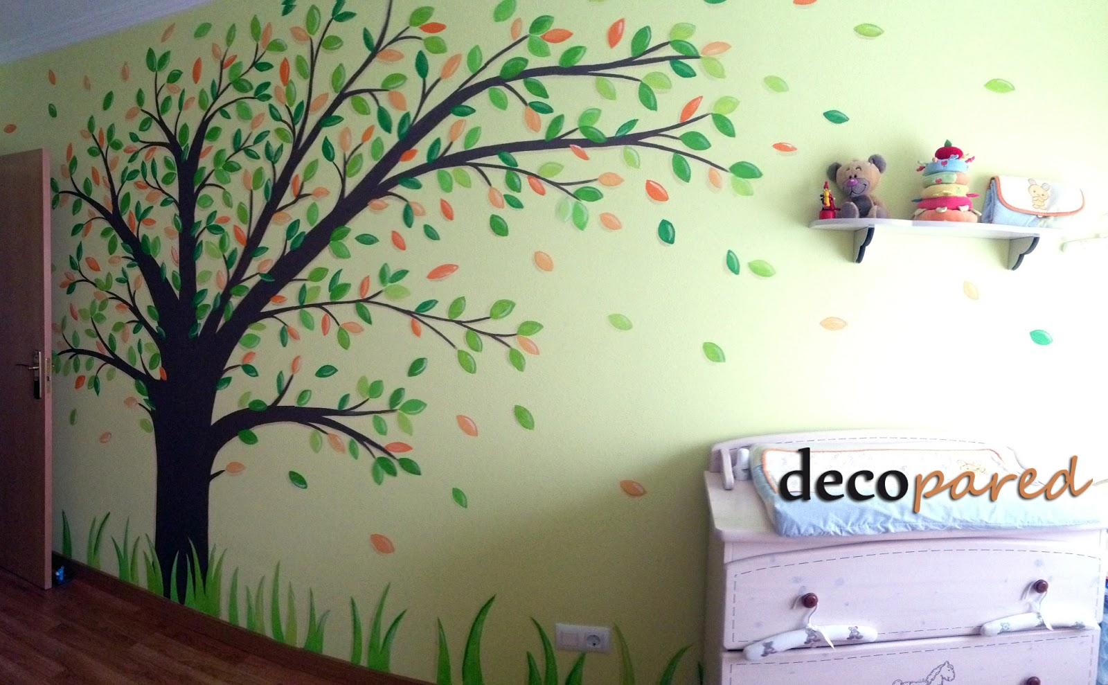 Decopared murales de rboles - Murales para habitaciones infantiles ...