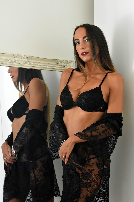 lingerie pizzo nero