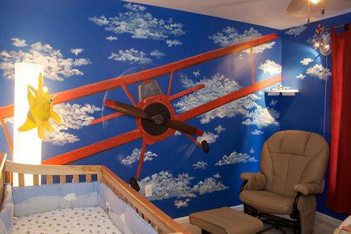 Pintura y madera c mo decorar la habitaci n de mi beb - Decorar paredes ninos ...