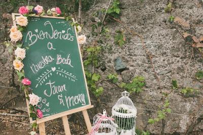 Detalles de una boda rural con sabor canario