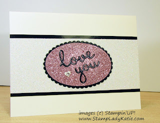 Die cut Inlay card featuring Stampin'UP foil and glimmer papers and Well Written Die set by StampLadyKatie