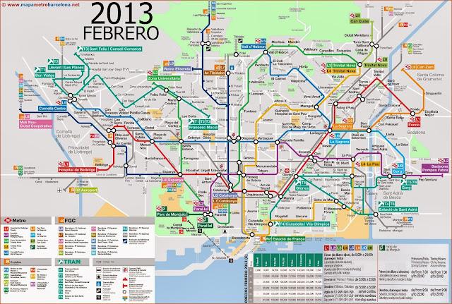 plano mapa del metro de barcelona