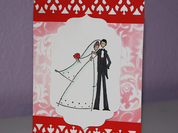 Wedding Card with Copic Markers and Airbrushing