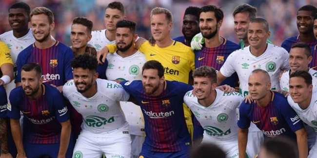 Barcelona x Chapecoense registra audiência razoável para a Globo