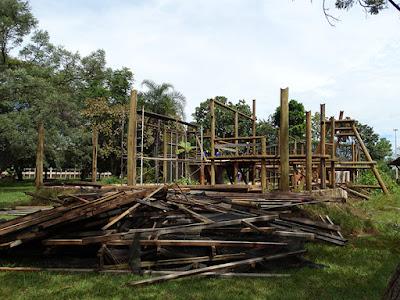 Destruição do Orquidário Nacional do Ibama
