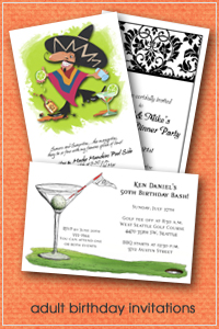 Shop Adult Birthday Party Invitations