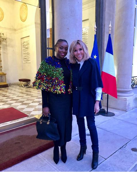 Chimamanda-Ngozi-Adichie-Brigitte-Macron-in-Paris