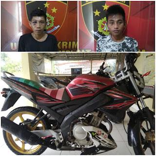 Dijemput Unit Reskrim Polsek BHL, Dua Orang Pelaku Pencurian Nyaris Diamuk Masa