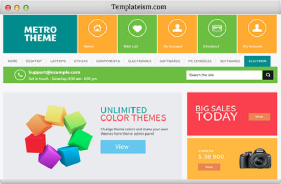 Metro UI win 8 Template Blogger
