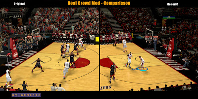 NBA 2K13 Real Crowd Mod Comparison (Rose Garden Arena)