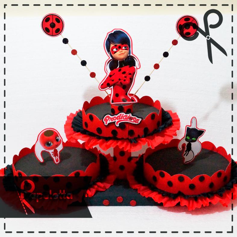 Cumpleaños Miraculous Ladybug Papeletta Papelería Creativa