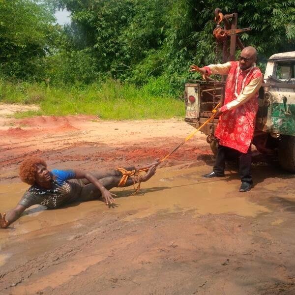 mercy johnson dragged in mud