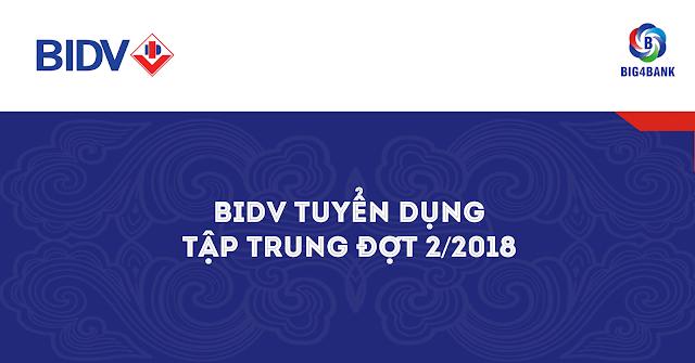 BIDV TUYỂN DỤNG TẬP TRUNG ĐỢT 2/2018