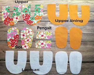 Tutorial dan cara mudah membuat sepatu bayi dari kain perca