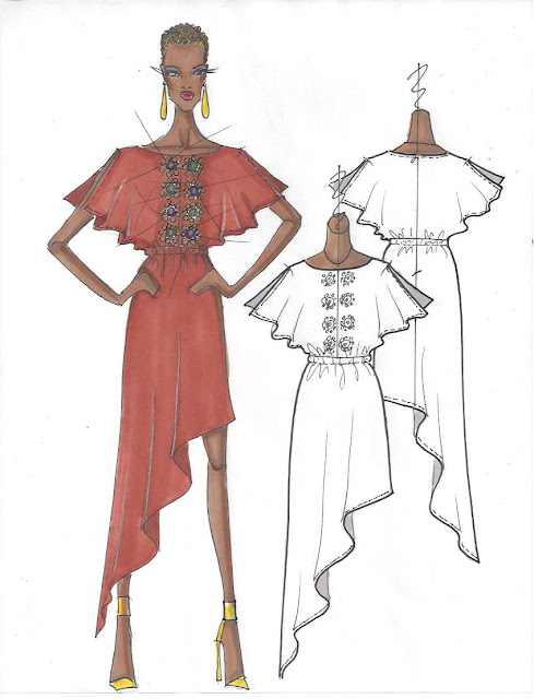fashion illustration draping dress nv nick verreos new dress styles available now at