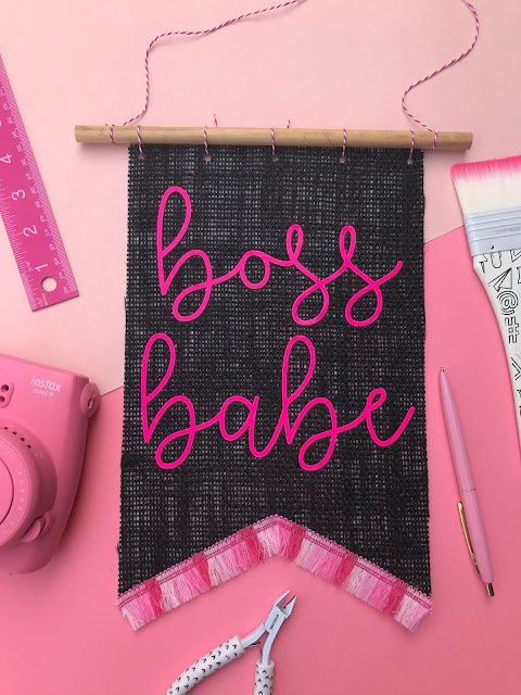 Create your own Burlap Hanging Wall Banner with Cricut Maker!