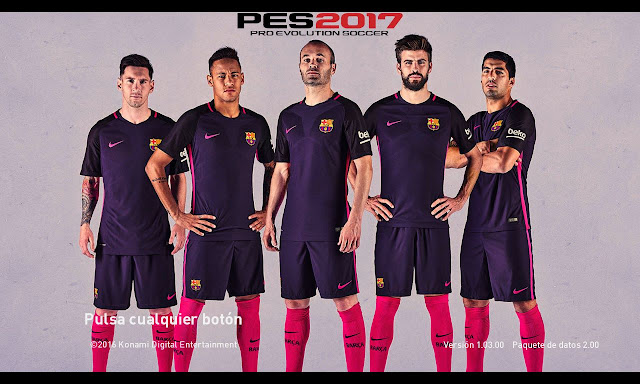 PES 2017 Barcelona Start Screen Pack By WARRIORBLACK