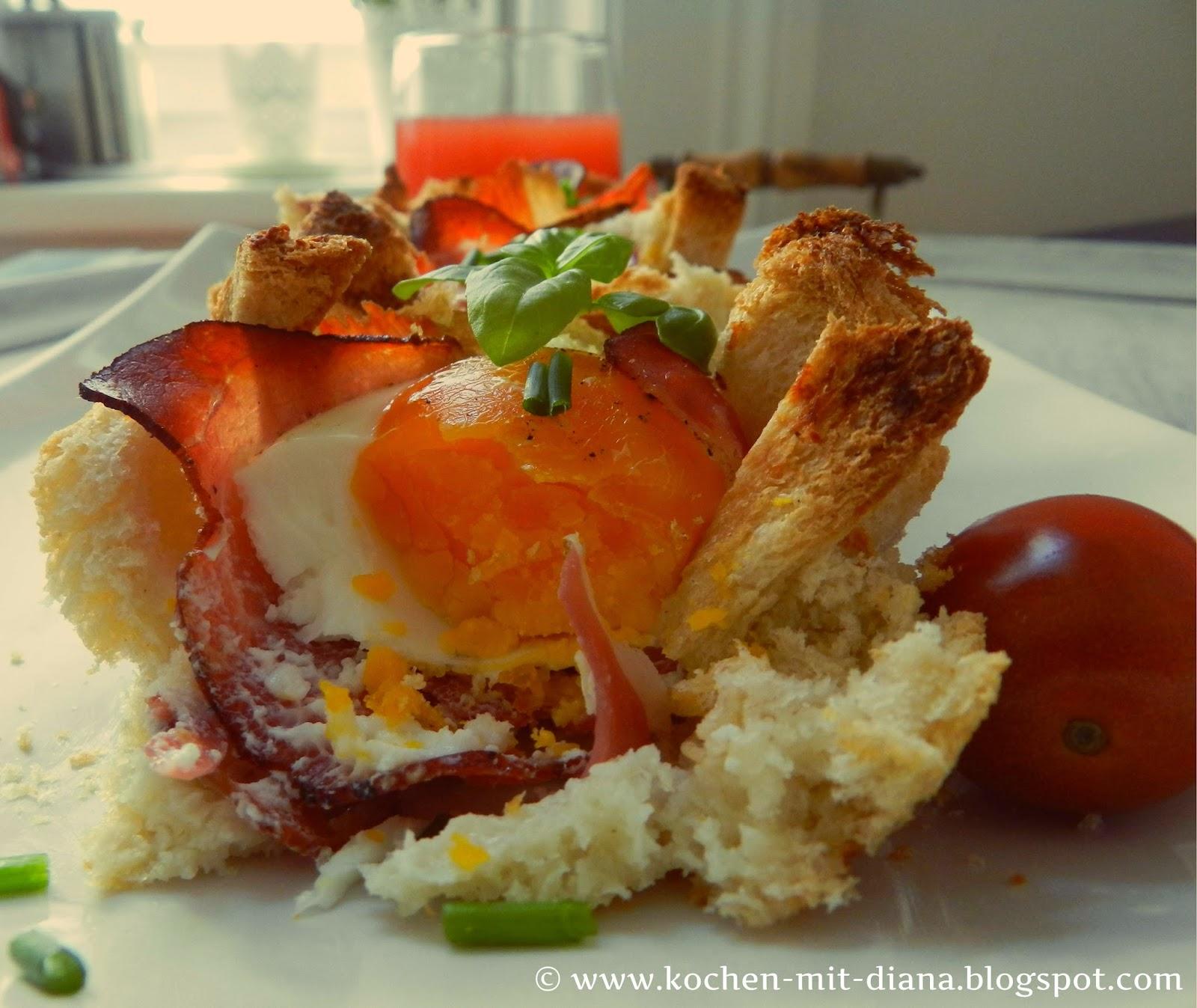 Frühstückmuffins mit Speck und Ei