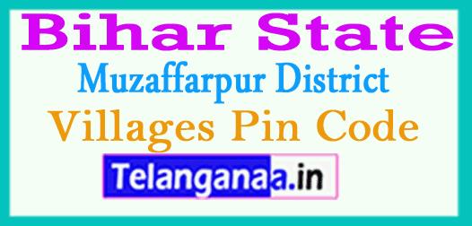 Muzaffarpur District Pin Codes in Bihar State