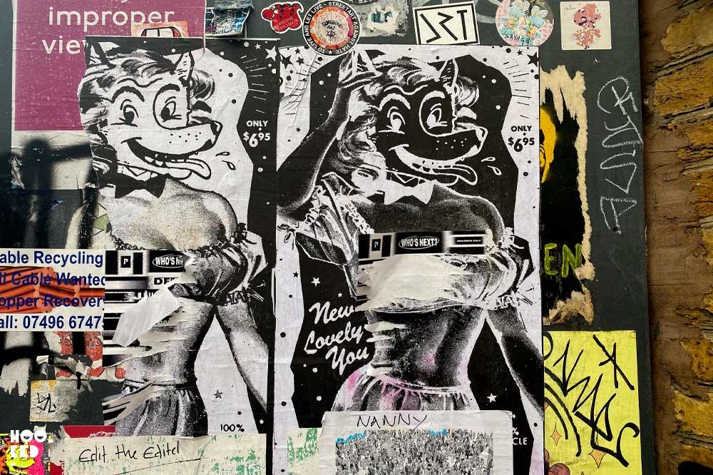 Shoreditch Street Art Paste-Ups : Artist Ben Rider