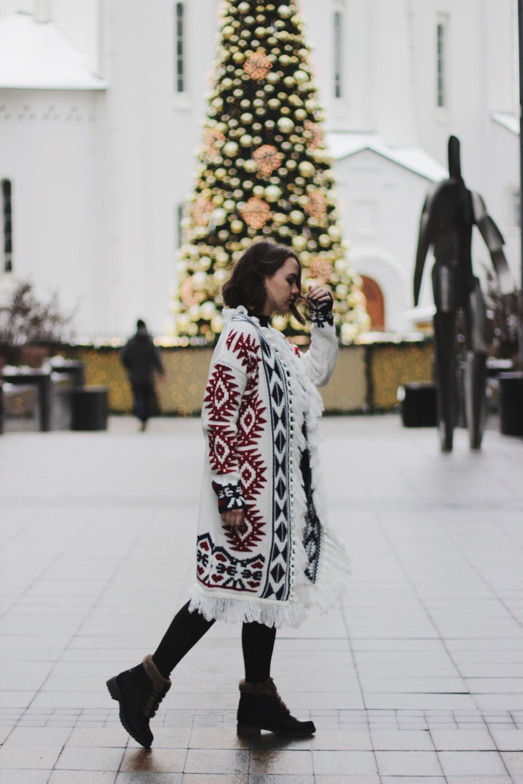 Fashion Blogger| Tribal Print Cardigan | Alina Ermilova